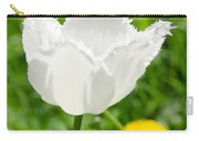 White Tulip On The Green Background Carry-all Pouch