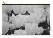 White Tulips B/w Carry-all Pouch