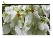 White Veil Of Tropical Flowers Carry-all Pouch
