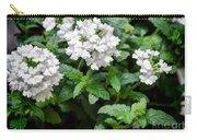 White Verbena Art Carry-all Pouch