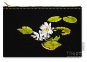White Water Lilies Carry-all Pouch by Frances Hattier
