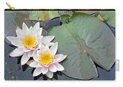 White Water Lilies Netherlands Carry-all Pouch by Jelger Herder
