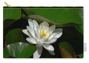 White Waterlily Lotus Carry-all Pouch