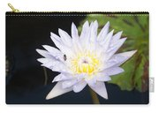 White Waterlily With Fly...   # Carry-all Pouch