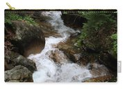 White Waters Over Granite Bolder Carry-all Pouch