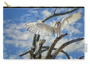 White Wide Wings Carry-all Pouch