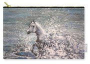 White Wild Horse Carry-all Pouch