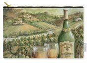 White Wine Lovers Carry-all Pouch by Marilyn Dunlap