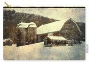 White Winter Barn Carry-all Pouch