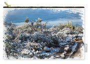 White Winter In The Desert Of Tucson Arizona Carry-all Pouch