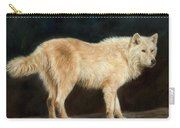 White Wolf Carry-all Pouch by David Stribbling