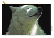 White Wolf In The Shade Carry-all Pouch
