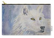 White Wolf Of The North Winds Carry-all Pouch