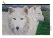 White Wolves Carry-all Pouch