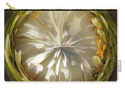 White Zinnia Button Carry-all Pouch