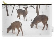 Whitetail Deer In Snowy Woods Carry-all Pouch