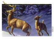 Whitetail Deer Painting - Startled Carry-all Pouch