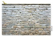 Whitewash Old Stone Wall Carry-all Pouch