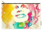 Whitney Houston Watercolor Canvas Carry-all Pouch