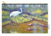 Whooping Crane - Searching For Frogs Carry-all Pouch