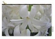 Whte Hyacinth Carry-all Pouch