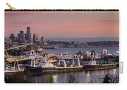 Wider Seattle Skyline And Rainier At Sunset From Magnolia Carry-all Pouch