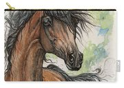 Wieza Wiatrow Polish Arabian Mare Watercolor Painting  Carry-all Pouch