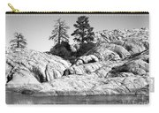 Willow Lake Number One Bw Carry-all Pouch by Heather Kirk