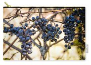 Wild Blue Grapes Carry-all Pouch