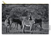 Wild Burros In Black And White  Carry-all Pouch