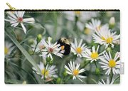 Wild Daisies And The Bumblebee Carry-all Pouch