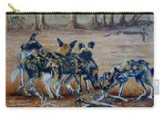 Wild Dogs After The Chase Carry-all Pouch