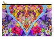 Wild Flower Heart Carry-all Pouch by Alixandra Mullins