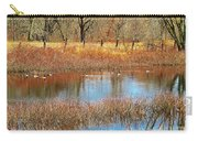 Wild Geese On The Farm Carry-all Pouch
