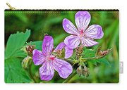 Wild Geranium On Trail To Swan Lake In Grand Teton National Park-wyoming Carry-all Pouch