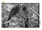 Wild Hawaiian Parrot Black And White Carry-all Pouch