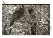 Wild Hawaiian Parrot Sepia Carry-all Pouch