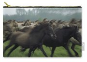 Wild Horse Equus Caballus Herd Carry-all Pouch