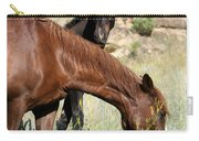 Wild Horse Mama And Her Baby Carry-all Pouch