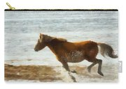 Wild Horse Running Through Water Carry-all Pouch