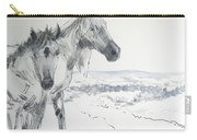 Wild Horses Drawing Carry-all Pouch