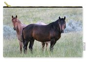 Wild Horses In The Badlands Carry-all Pouch