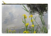 Wild Iris By The Pond Carry-all Pouch by Ausra Huntington nee Paulauskaite