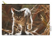 Wild Kitten Happy To Be Alive Carry-all Pouch