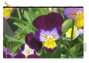 Wild Pansies Or Johnny Jump-ups 1 Carry-all Pouch
