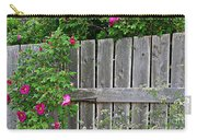 Wild Roses And Weathered Fence Carry-all Pouch