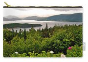 Wild Roses At Photographer's Point Overlooking Bonne Bay In Gros Morne Np-nl Carry-all Pouch