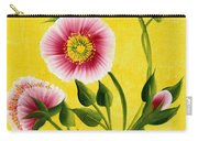 Wild Roses On Yellow Carry-all Pouch