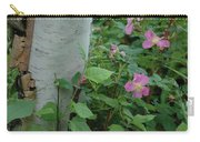 Wild Roses With Birch Tree Carry-all Pouch
