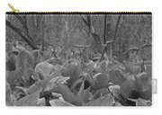Wild Skunk Cabbage Bw Carry-all Pouch